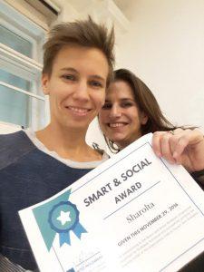 Founder Sarolta Tripolszky with Judit Fejes